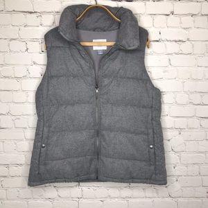 Old Navy Gray Puff Vest